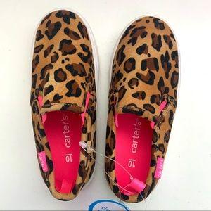Leopard Print Girls Sneakers